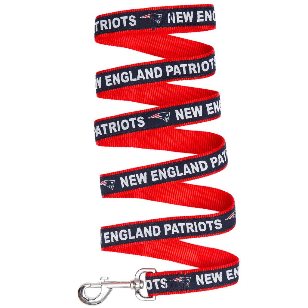 New England Patriots NFL Football Ribbon Woven Nylon Dog Leash