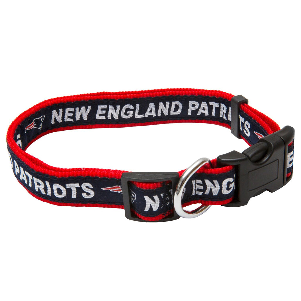 New England Patriots NFL Sports Nylon Ribbon Dog Collar