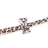 Cheetah Couture Pink with Big Bow UltraSuede Designer Dog Leash