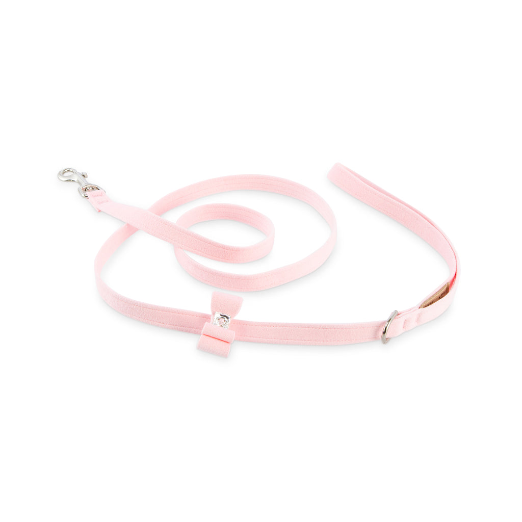 Really Big Bow Puppy Pink UltraSuede Designer Dog Leash