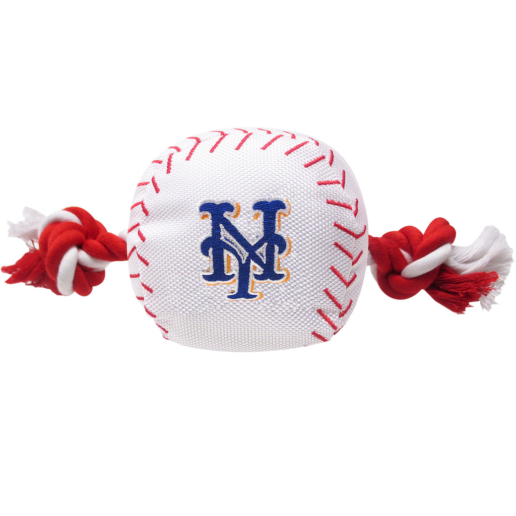 New York Mets Plush Baseball Tug Rope Dog Toy
