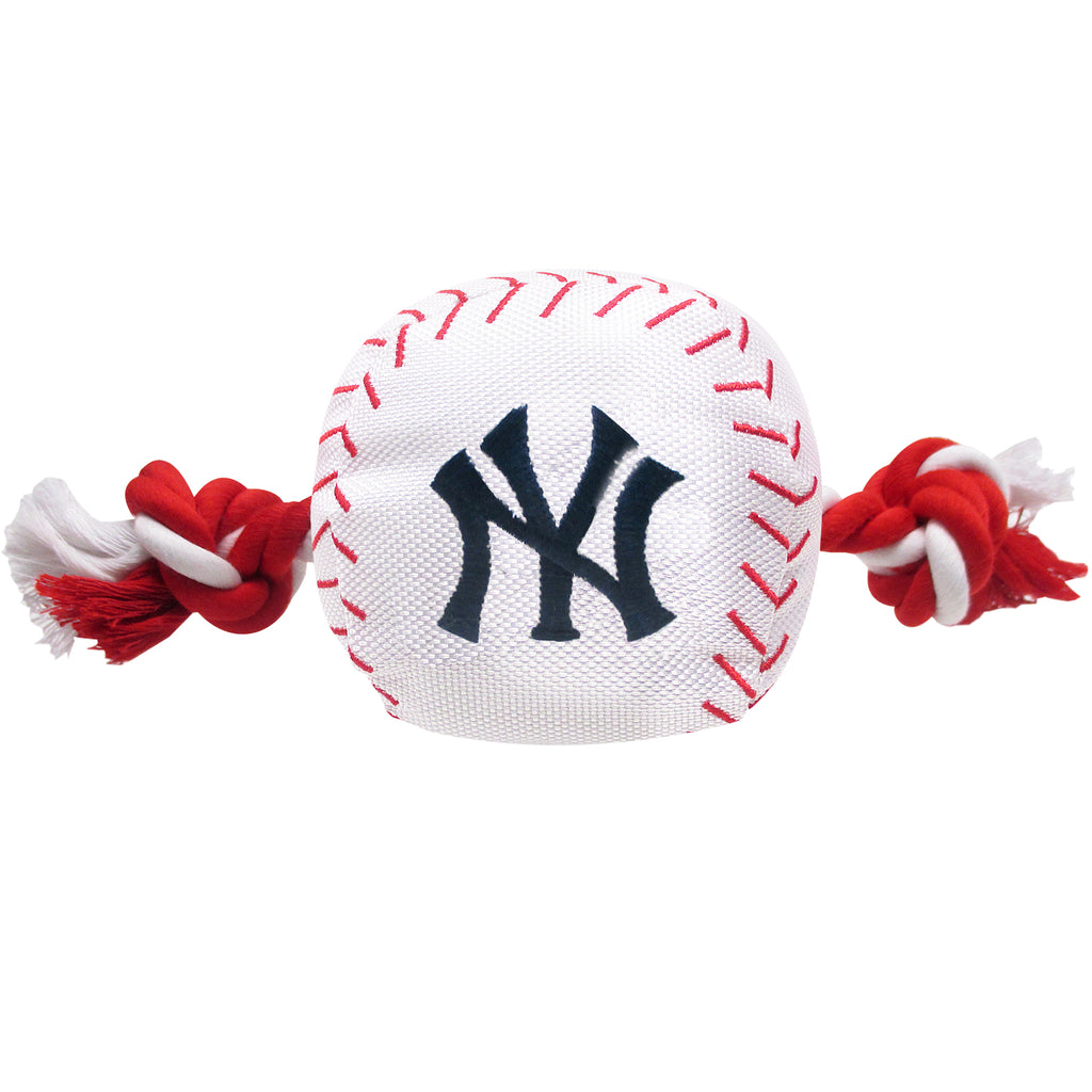 New York Yankees Plush Baseball Tug Rope Dog Toy