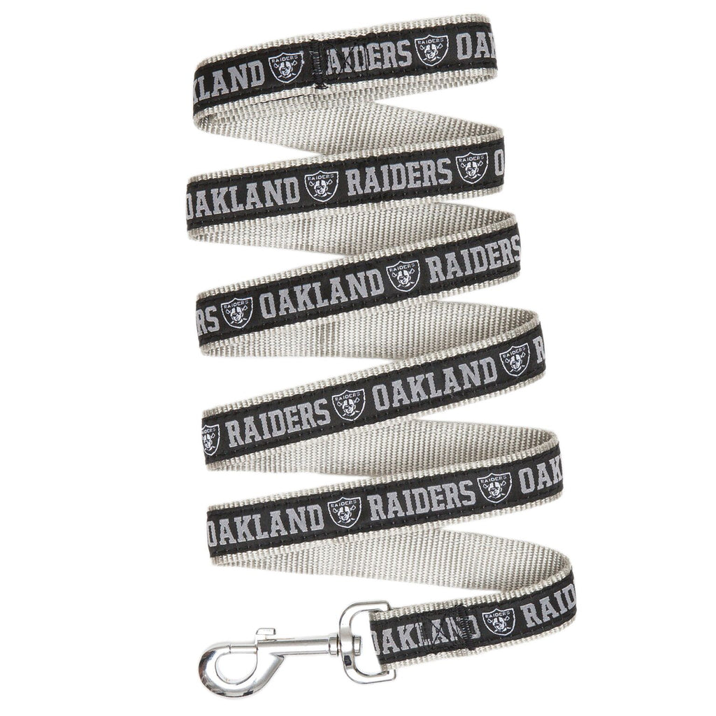 Oakland Raiders NFL Football Ribbon Woven Nylon Dog Leash