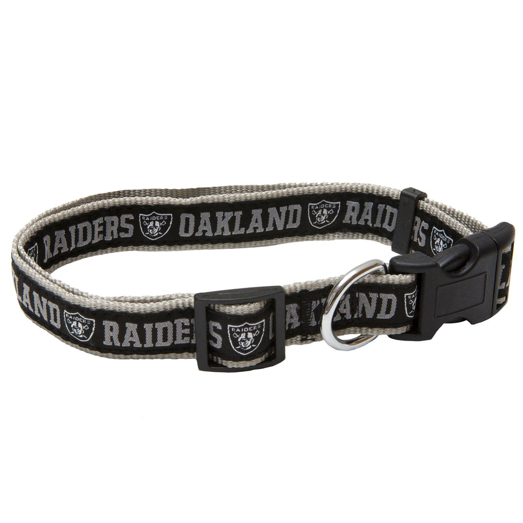 Oakland Raiders NFL Sports Nylon Ribbon Dog Collar