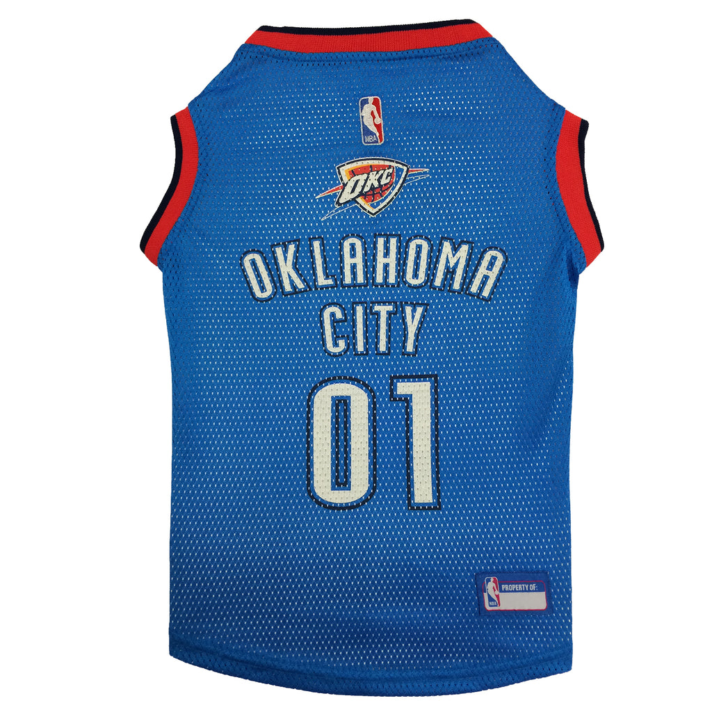 Official Licensed Pet Sports Jersey Apparel - Oklahoma City Thunder Basketball NBA Dog Jersey