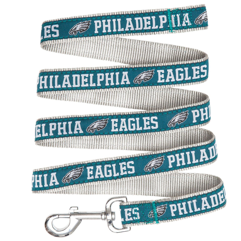 Philadelphia Eagles NFL Football Ribbon Woven Nylon Dog Leash