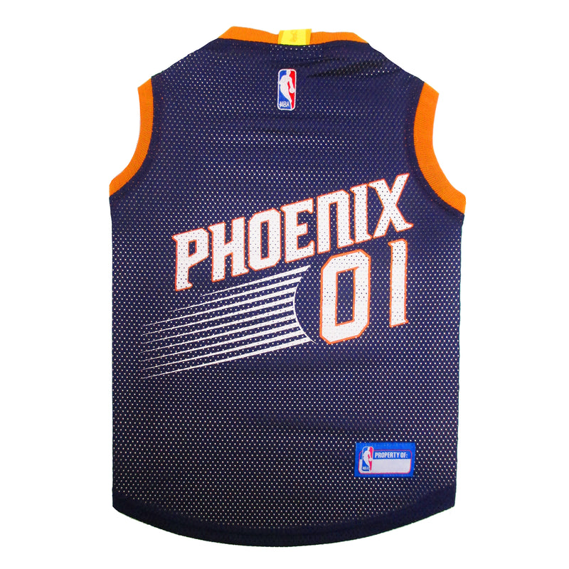 Official Licensed Pet Sports Jersey Apparel - Arizona Phoenix Basketball NBA Dog Jersey