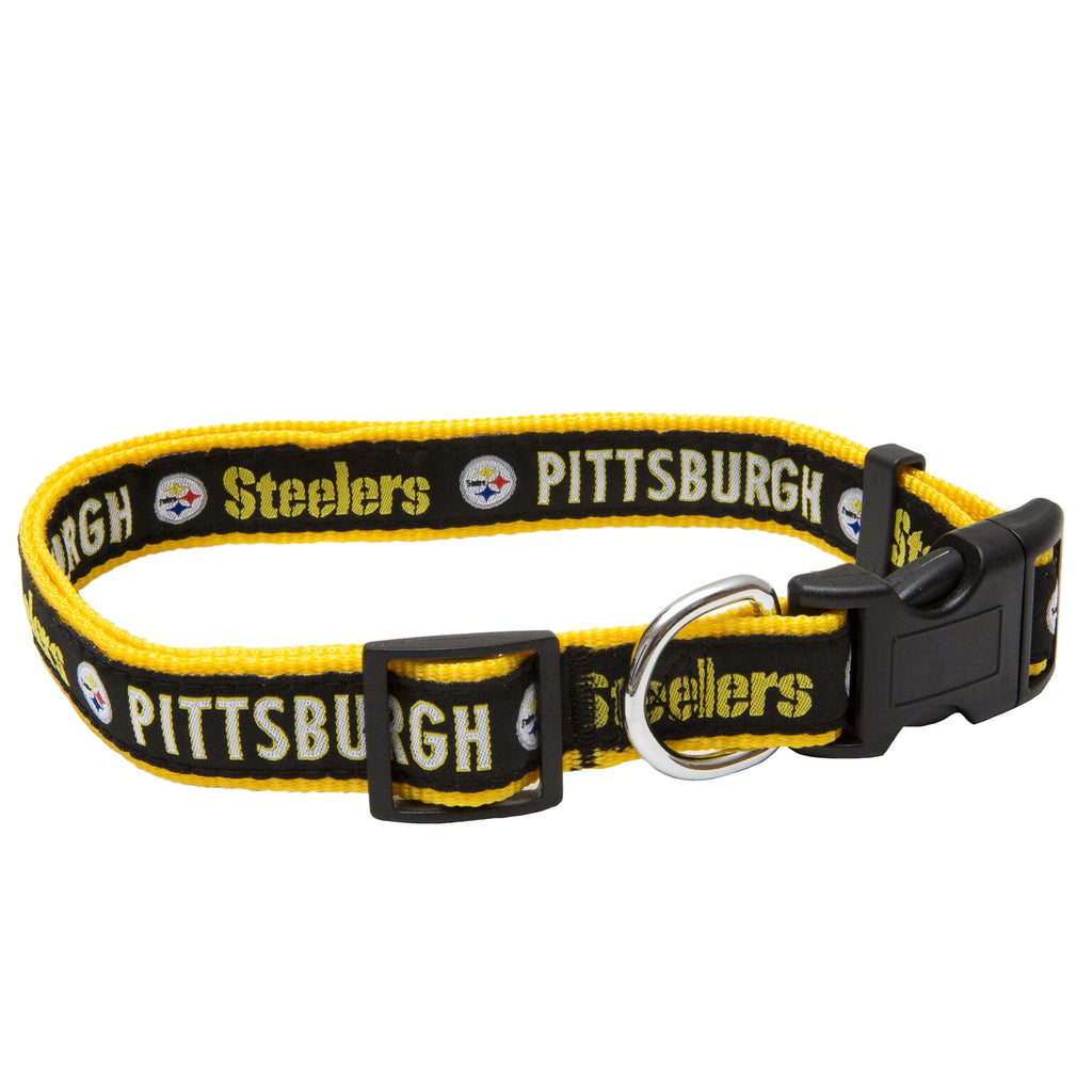 Pittsburgh Steelers NFL Sports Nylon Ribbon Dog Collar