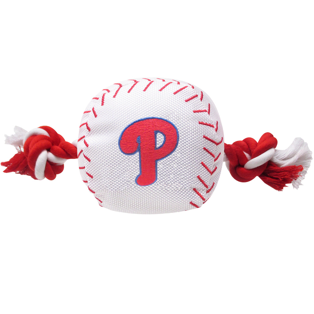 Philadelphia Phillies Plush Baseball Tug Rope Dog Toy