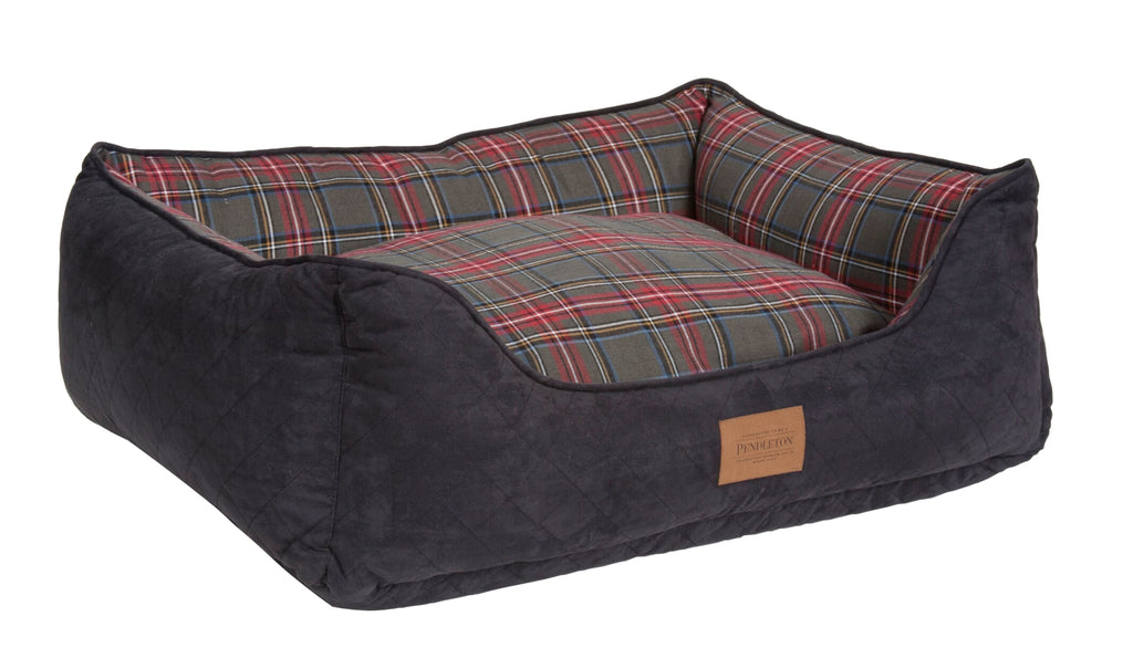 Pendleton Kuddler Grey Stewart Tartan Plaid Pet Bed