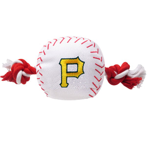 Pittsburgh Pirates Plush Baseball Tug Rope Dog Toy