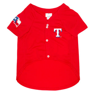 Official Licensed Pet Sports Jersey Apparel - Texas Rangers Baseball MLB Dog Jersey
