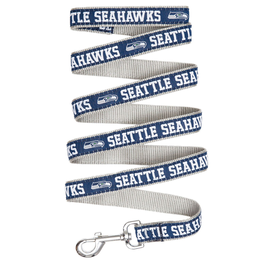 Seattle Seahawks NFL Football Ribbon Woven Nylon Dog Leash