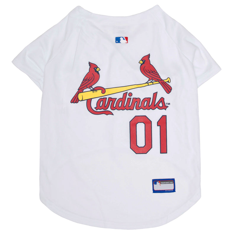 Official Licensed Pet Sports Jersey Apparel - St. Louis Cardinals Baseball MLB Dog Jersey