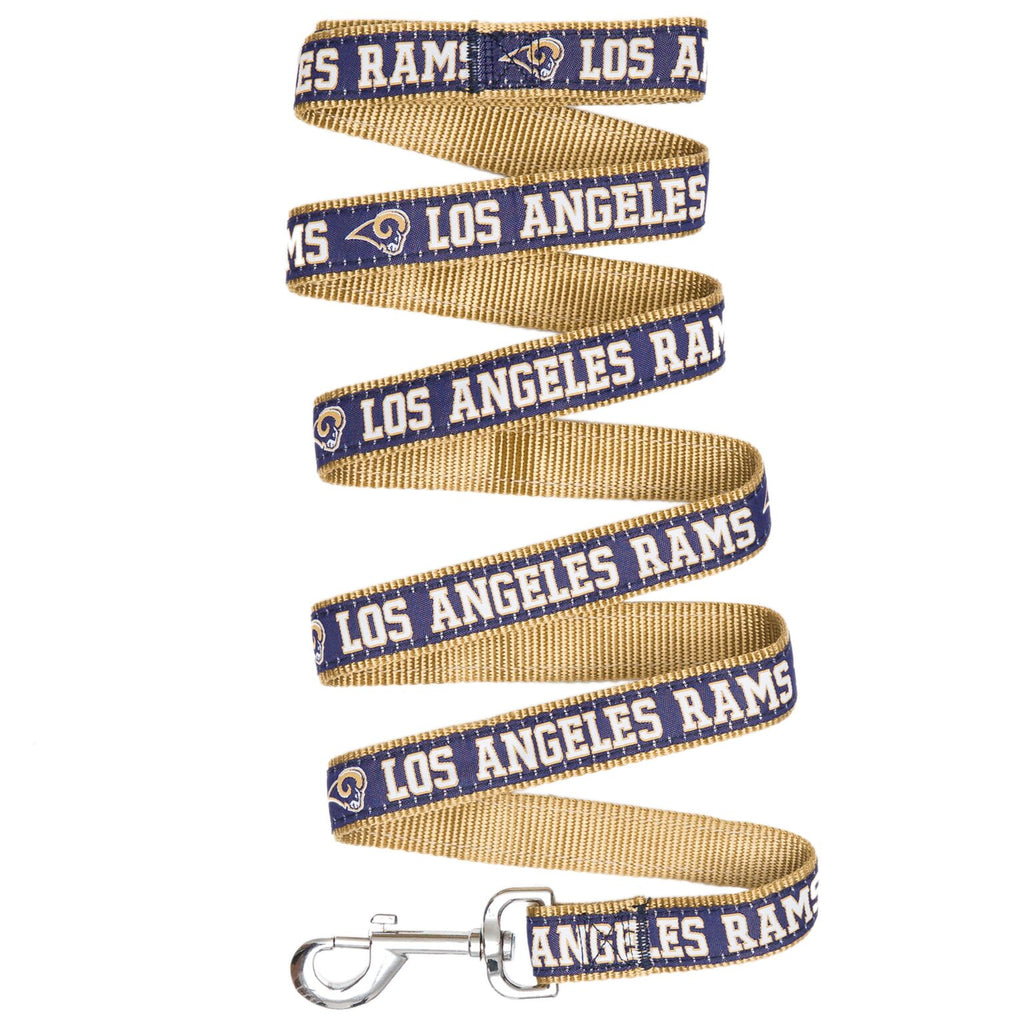 Los Angeles Rams NFL Football Ribbon Woven Nylon Dog Leash
