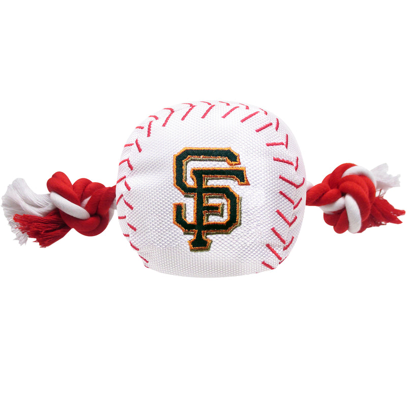 San Francisco Giants Plush Baseball Tug Rope Dog Toy