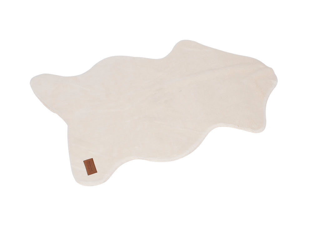 Pendleton Designer Ivory Shearling Microsuede Pet Dog Floor Mat Throw