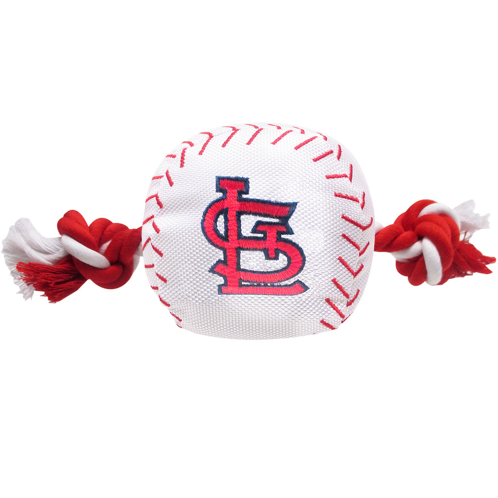 St. Louis Cardinals Plush Baseball Tug Rope Dog Toy