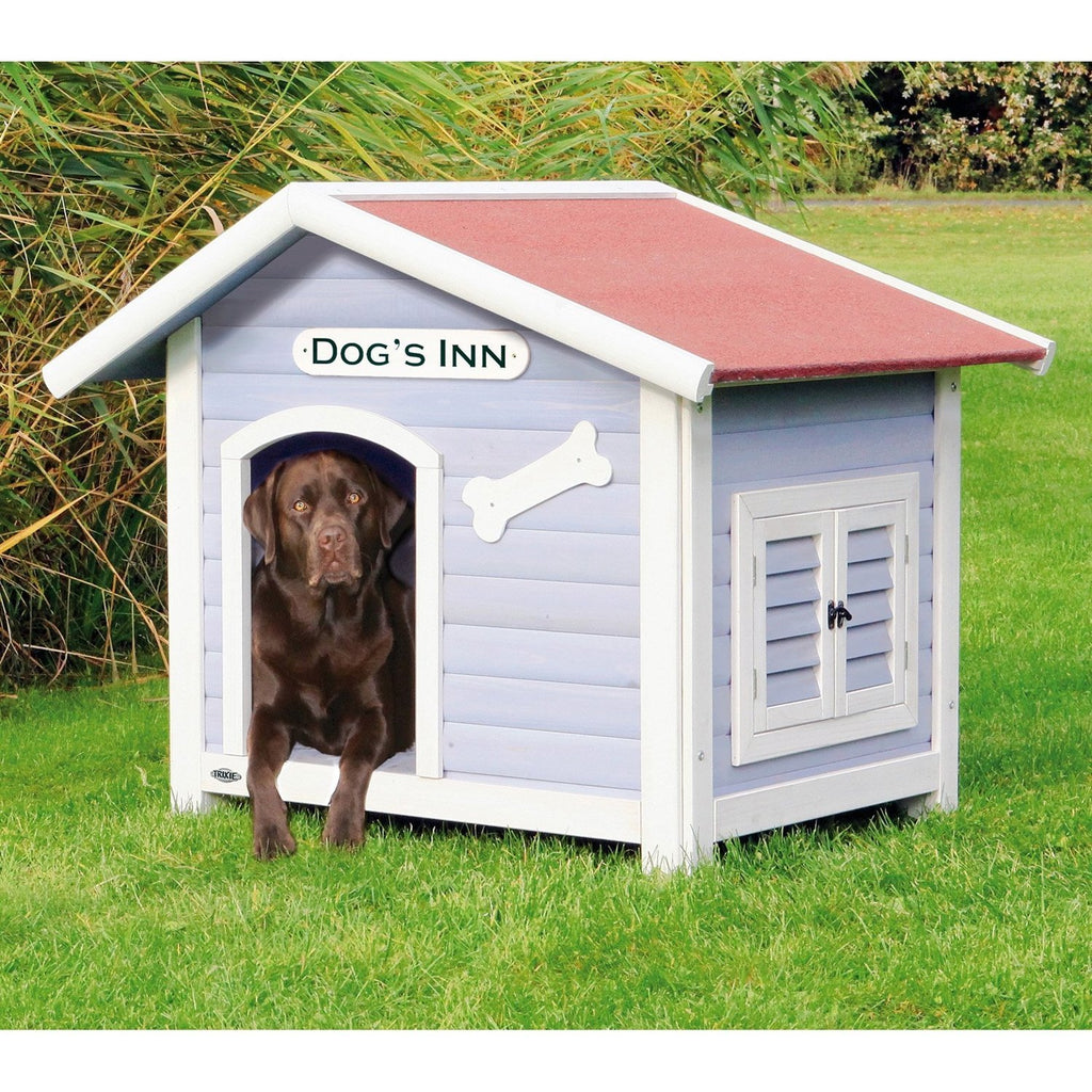 Solid Pine Wood Weatherproof Designer Dog House with a Removable Floor