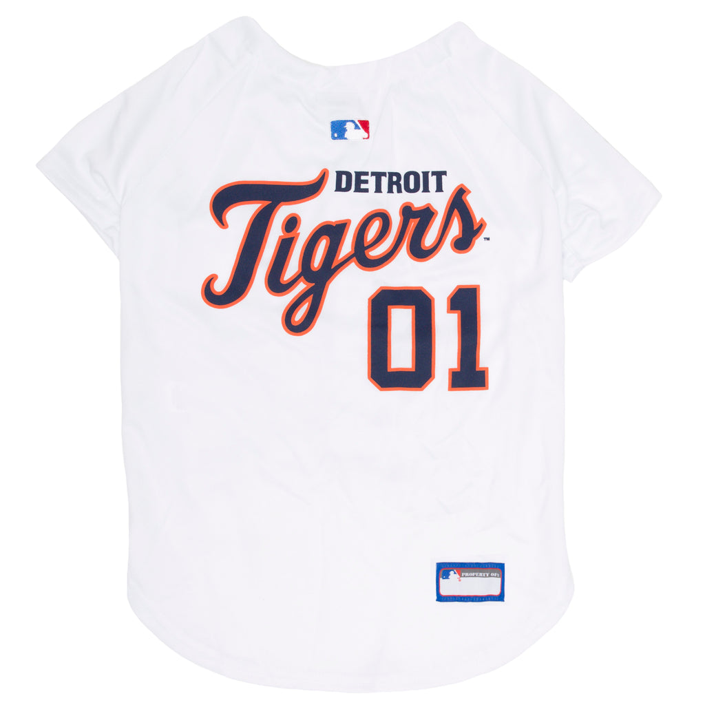 Official Licensed Pet Sports Jersey Apparel - Detroit Tigers Baseball MLB Dog Jersey