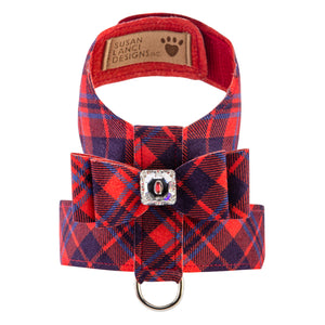 Scotty Tinkie Plaid Chestnut UltraSuede Dog Harness