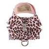Cheetah Nouveau Bow Tinkie UltraSuede Dog Harness