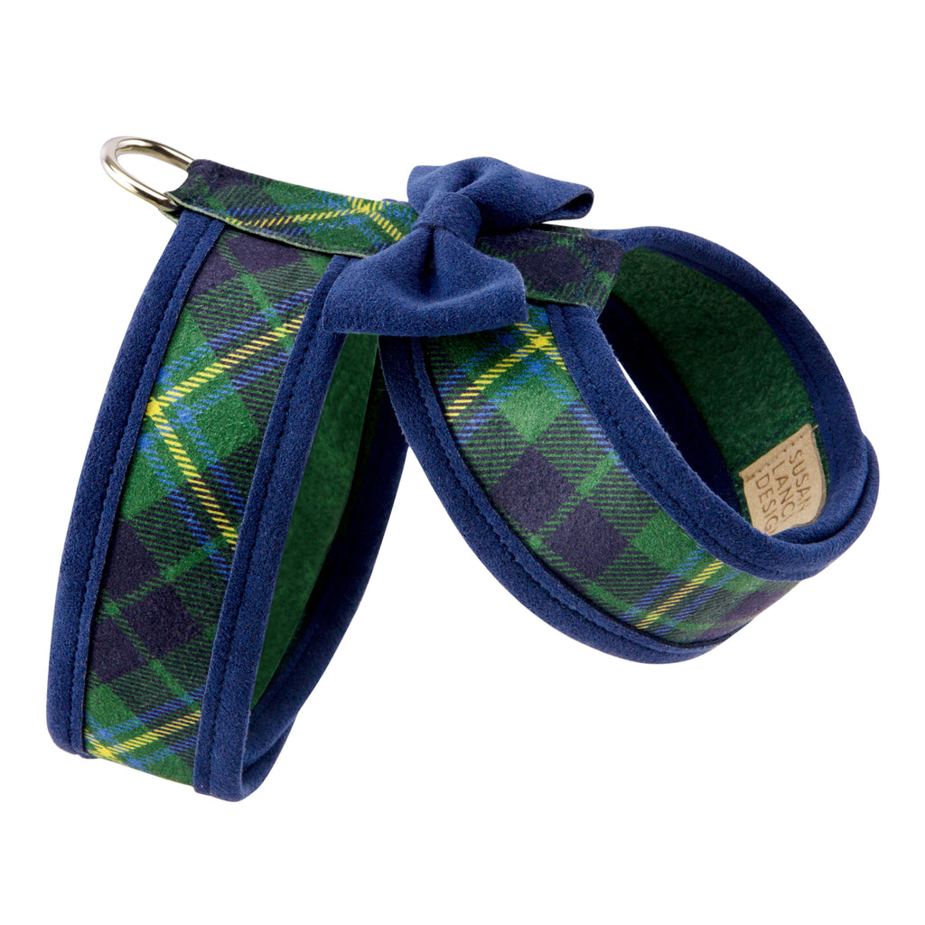 Scotty Tinkie Forest Plaid UltraSuede Dog Harness