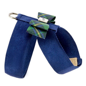 Scotty Big Bow Tinkie Forrest Plaid UltraSuede Dog Harness