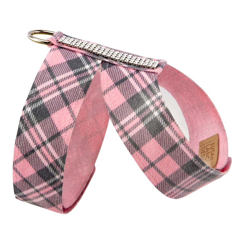 Scotty Tinkie Puppy Pink Plaid UltraSuede Dog Harness