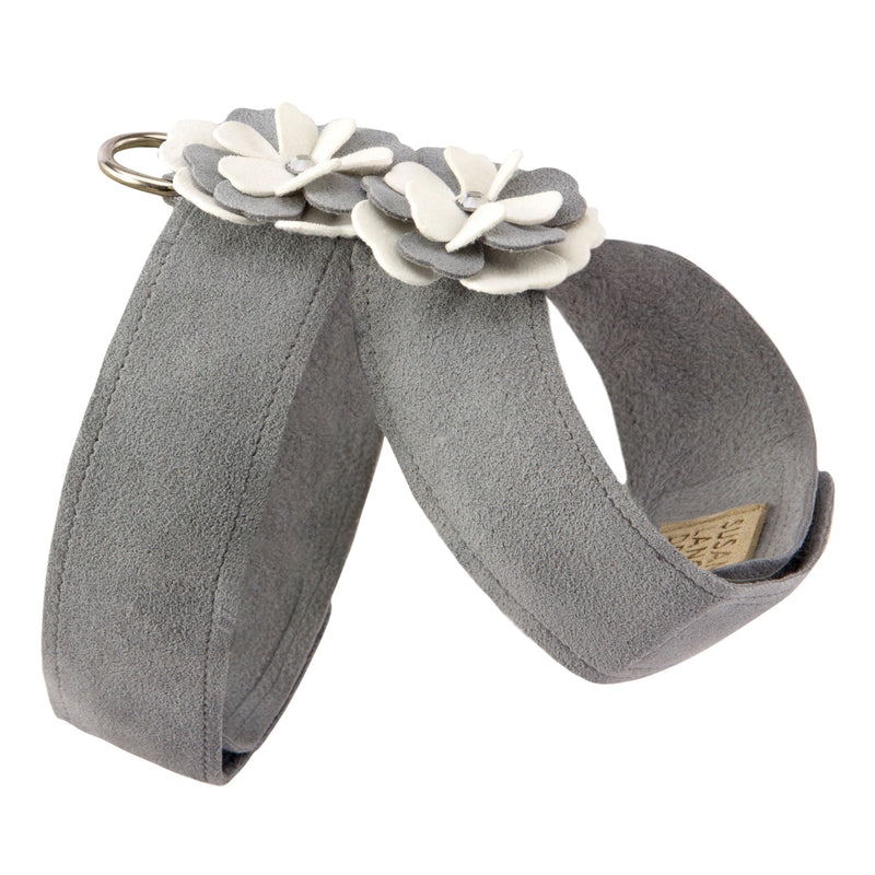 Special Occasion Grey Tinkie UltraSuede Dog Harness