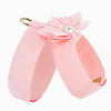 Water Lilly Puppy Pink Tinkie UltraSuede Dog Harness
