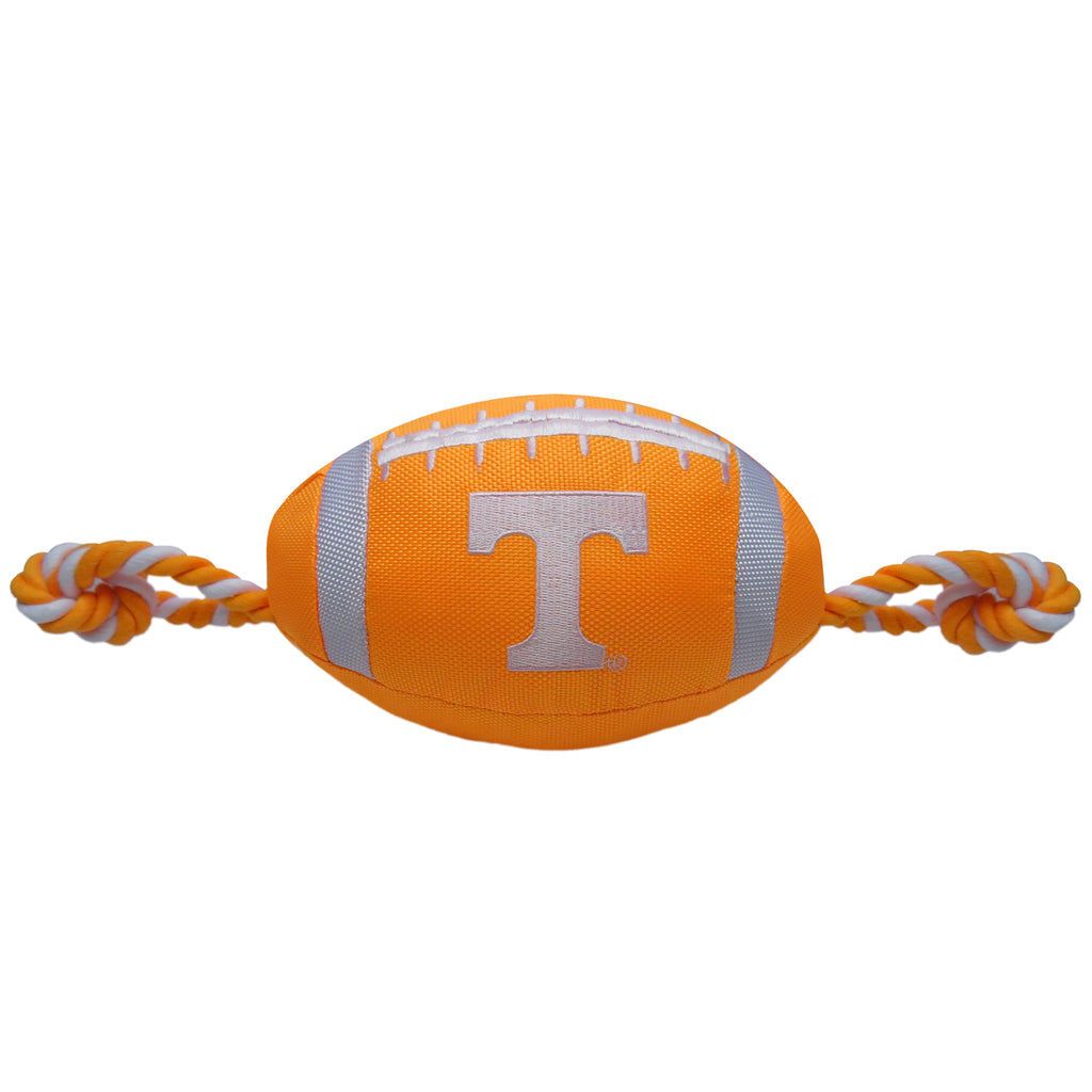 Tennessee Volunteers Nylon Football Squeaker Tug Rope Dog Toy