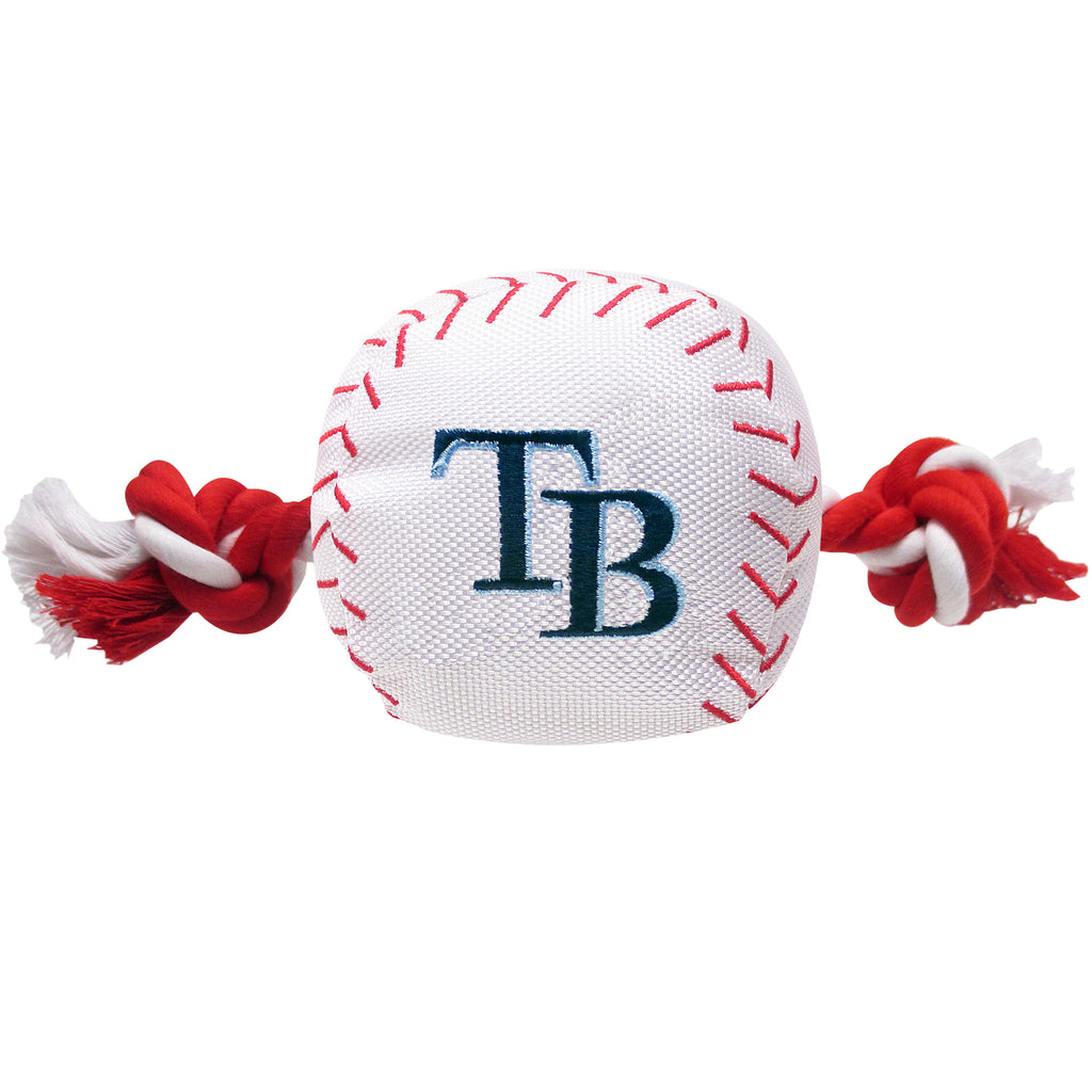Tampa Bay Rays Plush Baseball Tug Rope Dog Toy