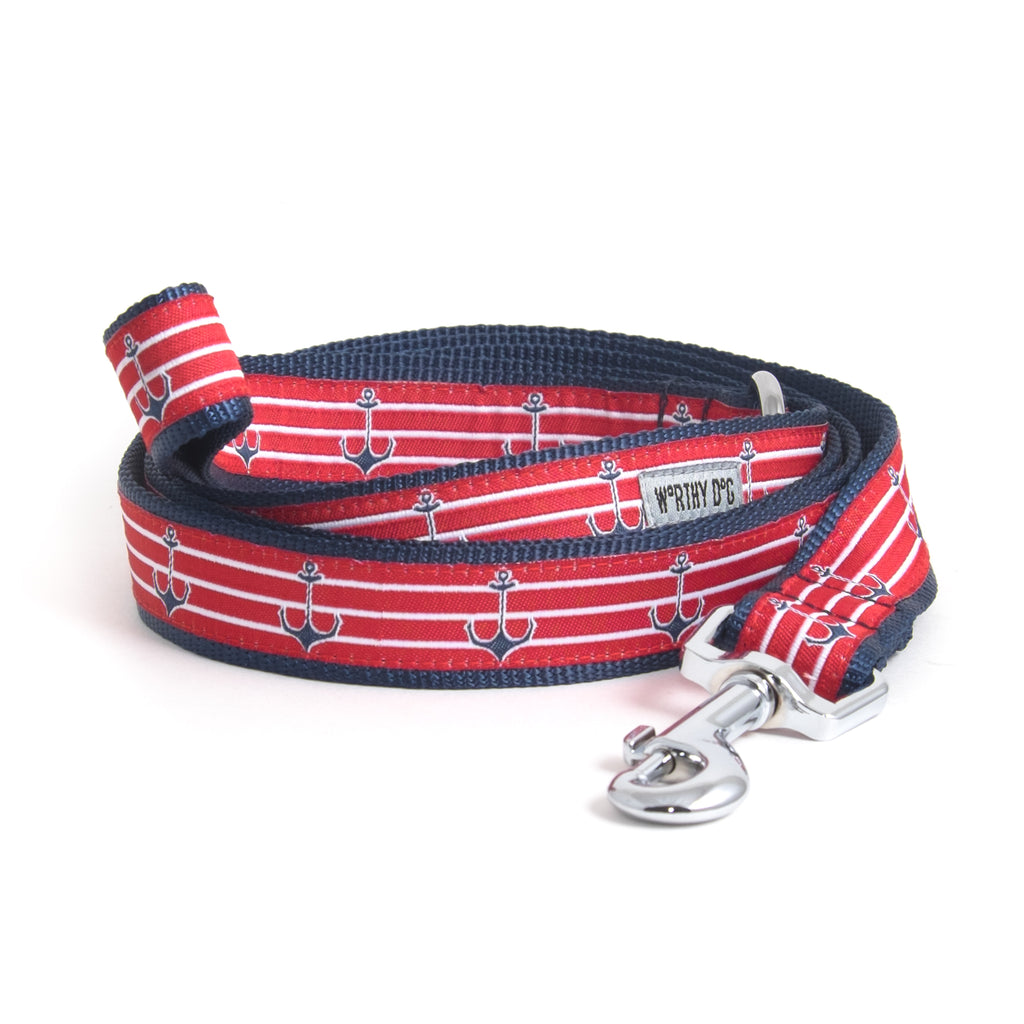 Anchors Red Sailor Pet Cat & Dog Leash