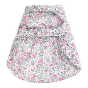 Cotton Print Woven Designer Pet Clothing - Pink Floral Dog Dress