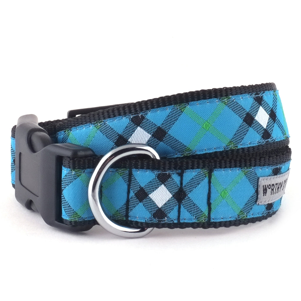 Blue Plaid Pet Collar