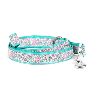 Garden Flowers Party Woven Ribbon Nylon Pet Cat & Dog Leash