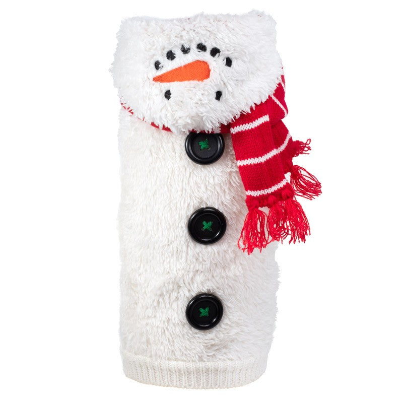 Double Knit Designer Hoodie 100% Ultra-Soft Acrylic Warm Pet Dog Sweater Costume - Sam The Snowman