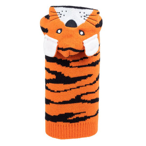 Double Knit Designer Hoodie 100% Ultra-Soft Acrylic Warm Pet Dog Sweater Costume - Orange Tiger