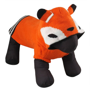Double Knit Designer Hoodie 100% Ultra-Soft Acrylic Warm Pet Dog Sweater Costume - Hoodie Todd The Fox