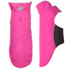 Pink Apex Active All-Weather Water-Resistant Nylon Warm Fleece Dog Coat Jacket