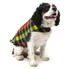 Multi-Colored Check and Green Fargo Fleece Wind-Resistant Reversible Dog Jacket Coat