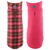 Fargo Pink & Brown Plaid Warm Fleece Wind-Resistant Reversible Designer Dog Coat Jacket