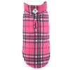 Fargo Pink & Charcoal Plaid Warm Fleece Wind-Resistant Reversible Designer Dog Coat Jacket