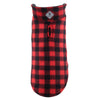Fargo Buffalo Plaid Checkers Warm Fleece Wind-Resistant Reversible Designer Dog Coat Jacket
