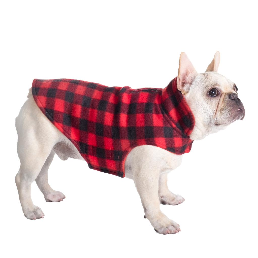 Fargo Fleece Wind-Resistant Reversible Dog Jacket