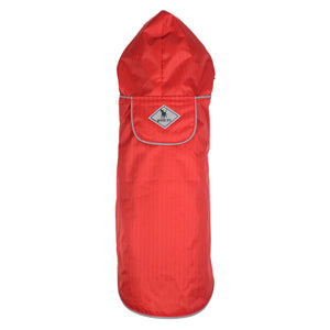 Seattle Slicker Red Anchors Water-Resistant Dog Rain Coat Jacket