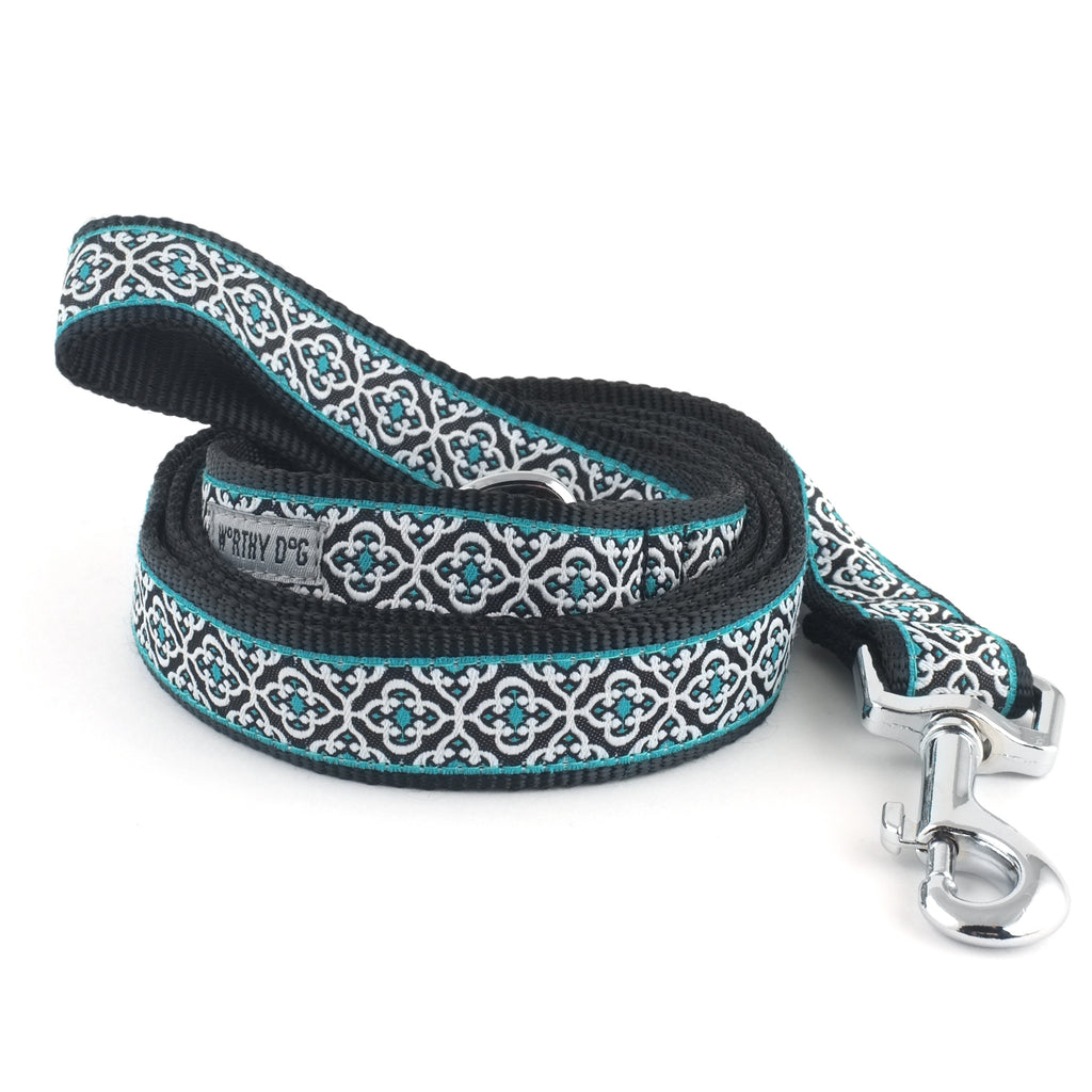 Knightsbridge Blue Woven Ribbon Nylon Durable Pet Cat & Dog Leash