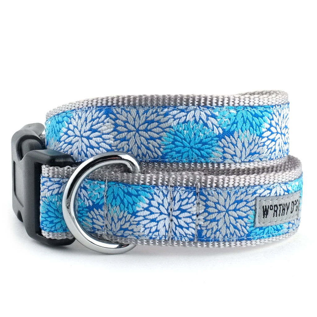 Mum's The Word Blue Woven Ribbon Nylon Durable Pet Cat & Dog Collar