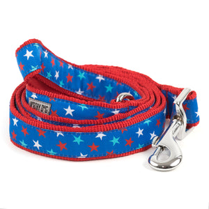 Patriotic Stars USA American Patriotic Woven Ribbon Nylon Pet Cat & Dog Leash